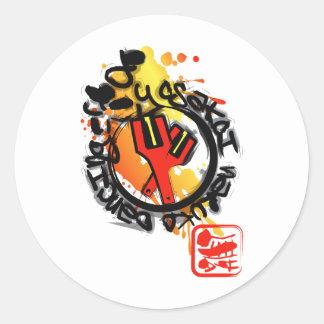 Yosakoi Naruko Dancing Classic Round Sticker