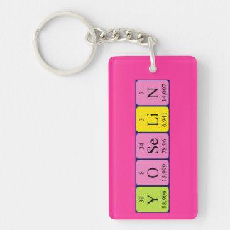 Yoselin periodic table name keyring Single-Sided rectangular acrylic key ring