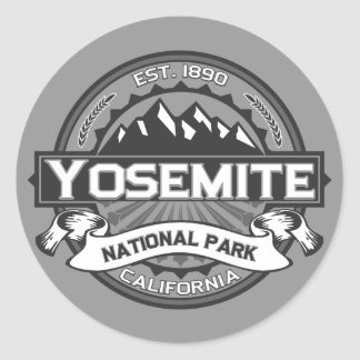 Yosemite Ansel Adams Pegatina Redonda