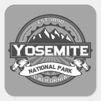 Yosemite Ansel Adams Pegatina Cuadrada