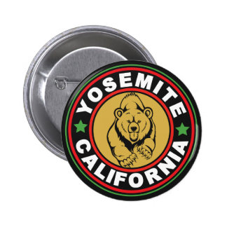 Yosemite Black Circle Pinback Button