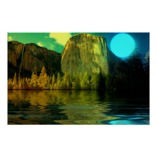 Yosemite-Blue-Moon-burst-set-1 Poster