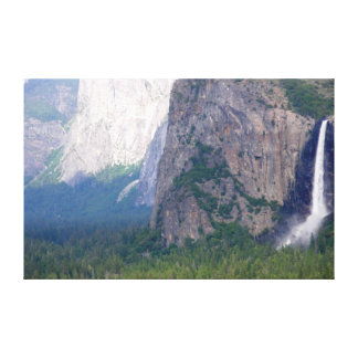 Yosemite Bridal Veil Fall Stretched Canvas Print