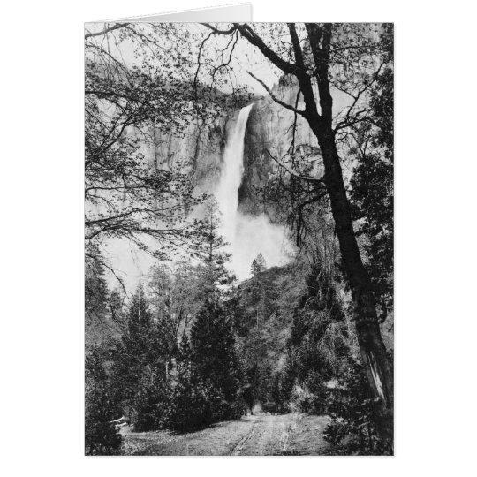 Yosemite Bridal Veil Falls Vintage California Card