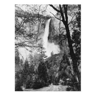 Yosemite Bridal Veil Falls Vintage California Postcard