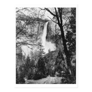Yosemite Bridal Veil Falls Vintage California Post Card