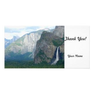 Yosemite Bridalveil Fall Custom Photo Card