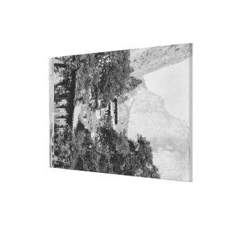 Yosemite, CA - la casa de campo de Ahwahnee y EL C Impresión En Lona Estirada