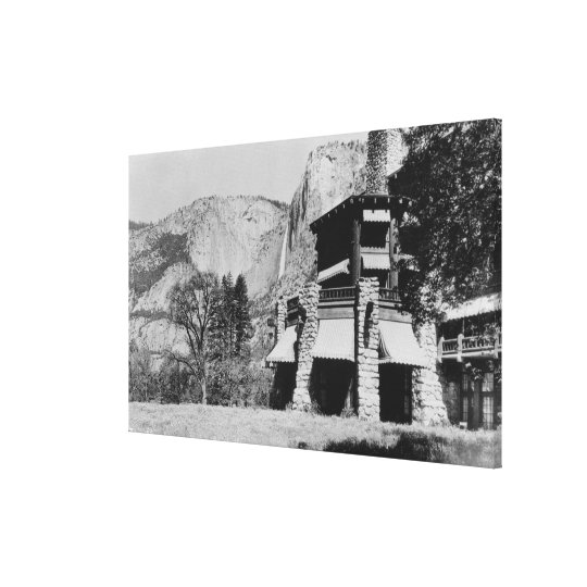 Yosemite, CA - The Ahwahnee Lodge and Valley Canvas Print