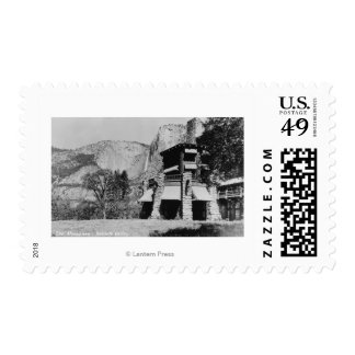 Yosemite, CA - The Ahwahnee Lodge and Valley Stamp
