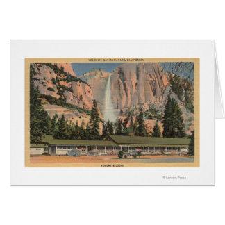 Yosemite, CA view of Yosemite Lodge and Falls Greeting Card