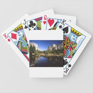 Yosemite california bicycle playing cards