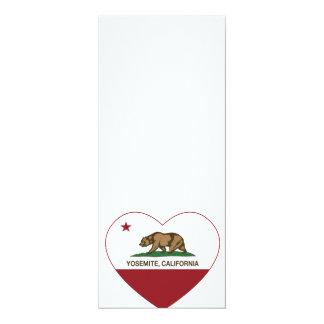 Yosemite California Republic Heart 4x9.25 Paper Invitation Card