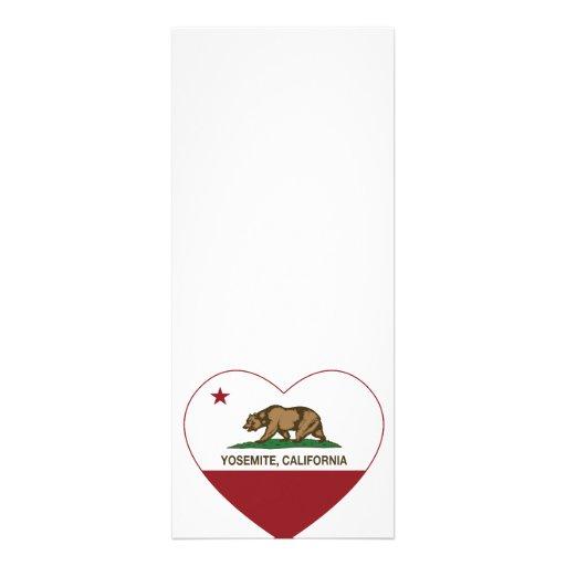 Yosemite California Republic Heart Personalized Announcement