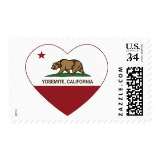Yosemite California Republic Heart Postage