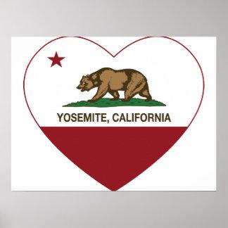 Yosemite California Republic Heart Poster