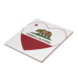Yosemite California Republic Heart Tile