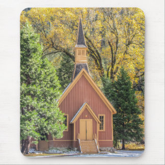 Yosemite Chapel In Autumn Mouse Pad