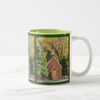Yosemite Chapel In Autumn Two-Tone Coffee Mug