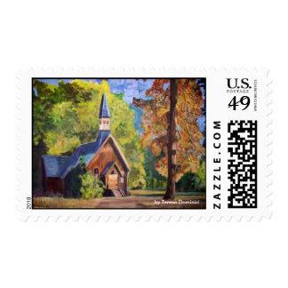 Yosemite Chapel - Postage