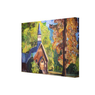 Yosemite Chapel Wrapped Canvas Stretched Canvas Print