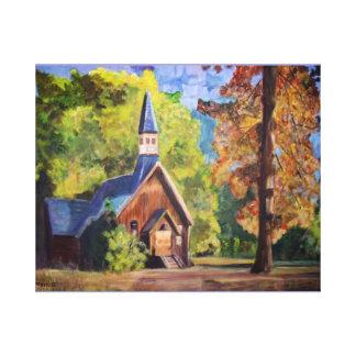 Yosemite Chapel Wrapped Canvas Canvas Prints