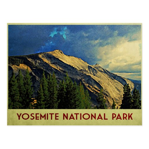 Yosemite Dramatic Sky Postcard