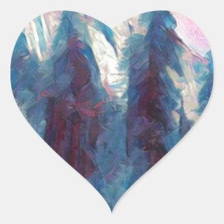 Yosemite en rosa pegatina en forma de corazón
