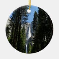 Yosemite Falls and Woods Landscape Photography Ceramic Ornament