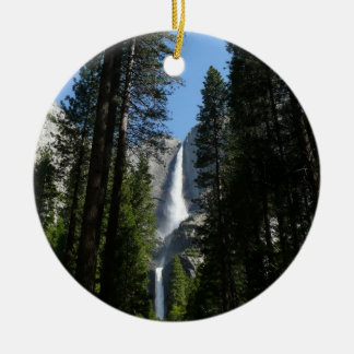 Yosemite Falls and Woods Landscape Photography Ceramic Ornament