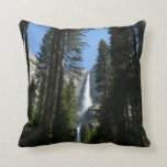 Yosemite Falls and Woods Landscape Photography Throw Pillow