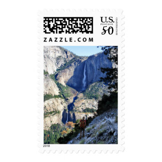 Yosemite Falls from the Four Mile Trail - Yosemite Postage