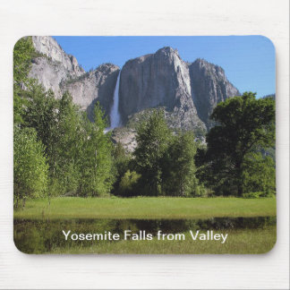 Yosemite Falls from Valley in California Mouse Pad
