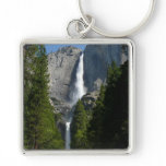 Yosemite Falls II from Yosemite National Park Silver-Colored Square Keychain