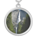 Yosemite Falls II from Yosemite National Park Silver Plated Necklace