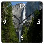 Yosemite Falls II from Yosemite National Park Square Wallclock