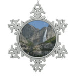 Yosemite Falls III from Yosemite National Park Snowflake Pewter Christmas Ornament
