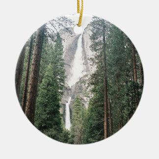Yosemite Falls Double-Sided Ceramic Round Christmas Ornament