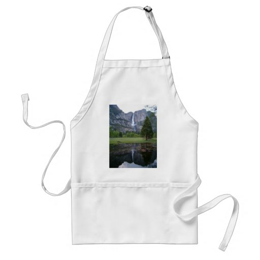 yosemite falls reflection adult apron