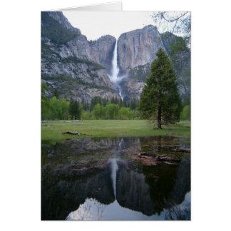 yosemite falls reflection card