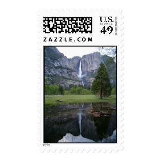 yosemite falls reflection postage