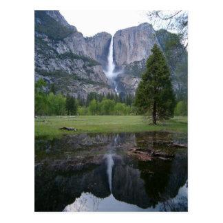 yosemite falls reflection postcard