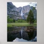 yosemite falls reflection poster