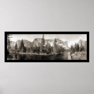 Yosemite Falls River Photo 1915 Poster