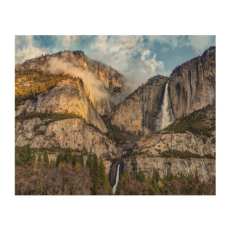 Yosemite Falls scenic, California Wood Wall Art