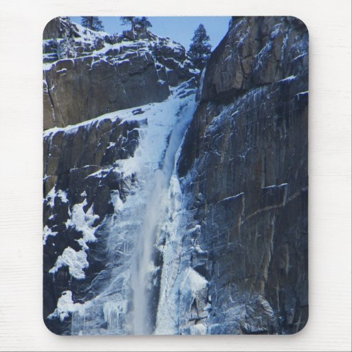 Yosemite Frozen Waterfall Mouse Pad