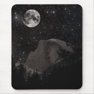 Yosemite Half Dome by Night Mouse Pad