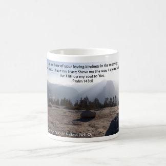 Yosemite Half Dome, Scripture from Psalm 143 Coffee Mug