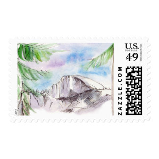Yosemite Half Dome Stamp
