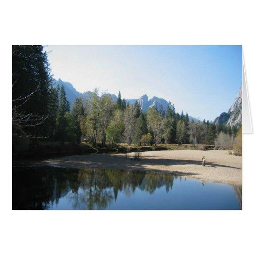 Yosemite hermoso tarjeta de felicitación